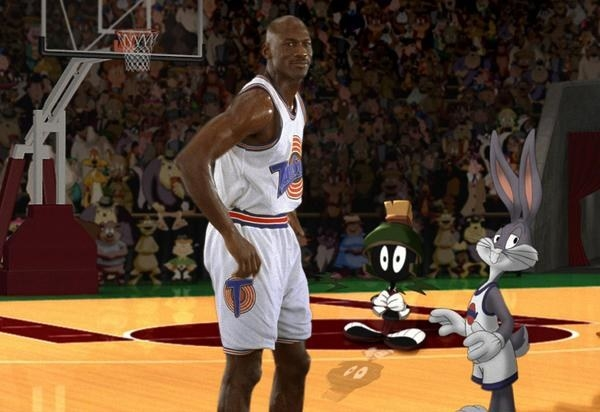 Michael Jordan first teamed up with Bugs Bunny on the big screen 21 years ago.