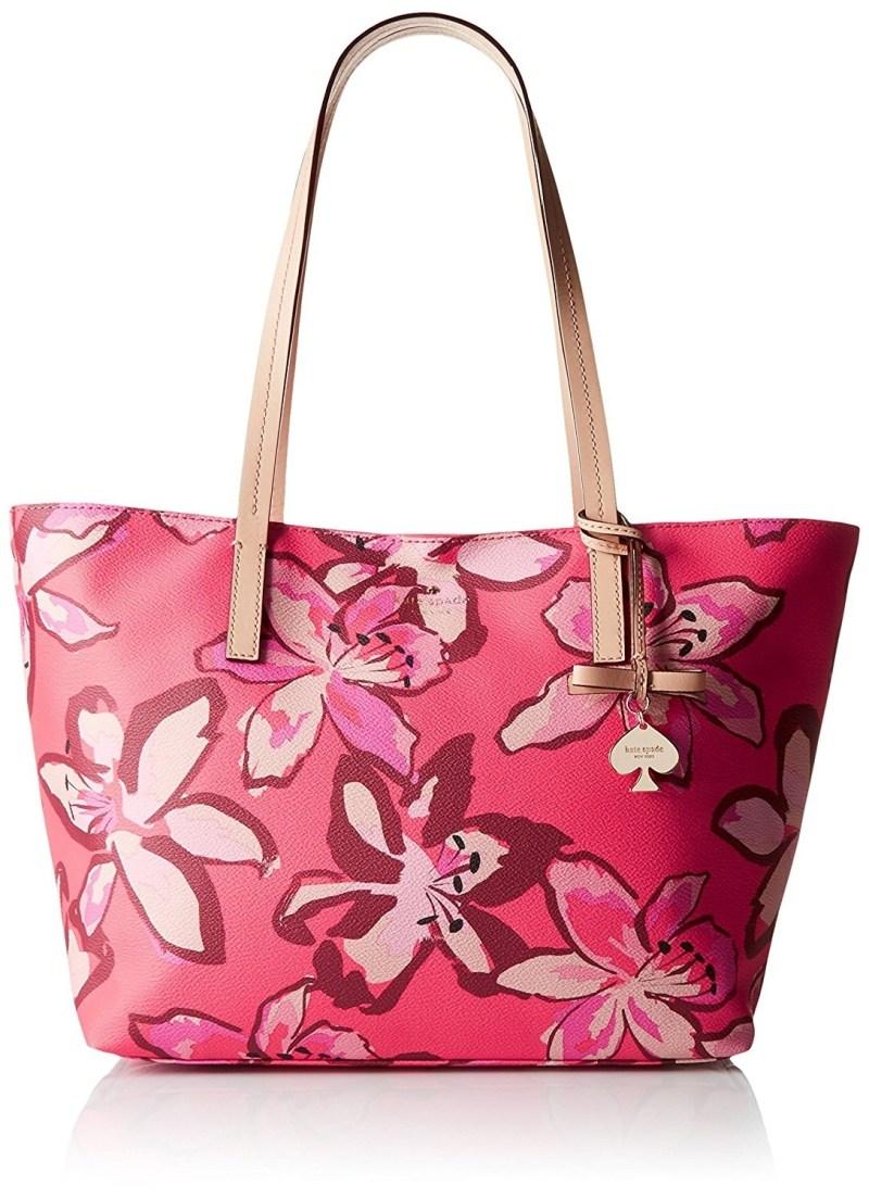 Kate Spade New York-Tas Perfect Voor Op Reis Vakantie Dagje Weg Of voor Het Strand Roze met Bloemen