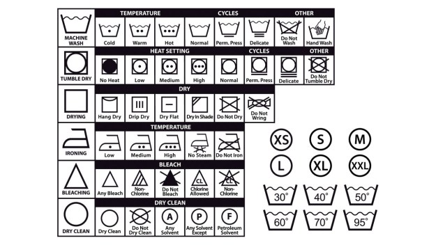 This is what all those laundry symbols mean on your clothing tags.