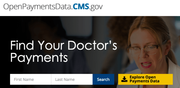 You can type any doctor's name into this database and see what types of kickbacks or payments they've received from drug companies.