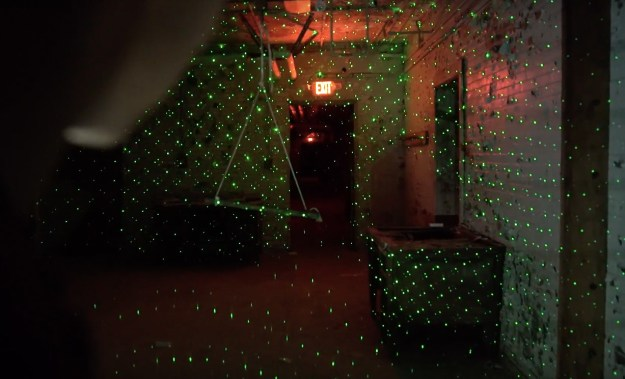 However, as cool as the laser grids looked, they didn't garner any ghoulish activity.