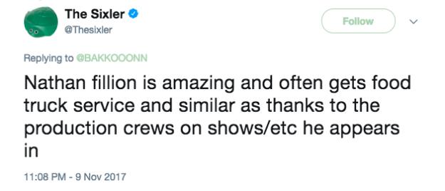 Another talked about how Nathan Fillion looks out for the production crew on set.