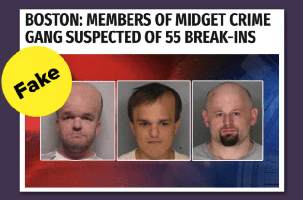 "Another said members of a ""midget crime gang"" was possibly behind 55 fracture-ins. (They weren't.)"