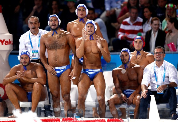 41. Any member of the Greek water polo team