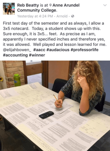 This student, who just deserves an A: