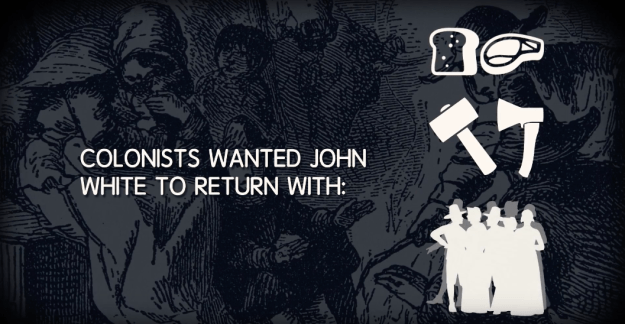 John White was the settlement's governor, and they wanted him to get them more food, tools, and people.