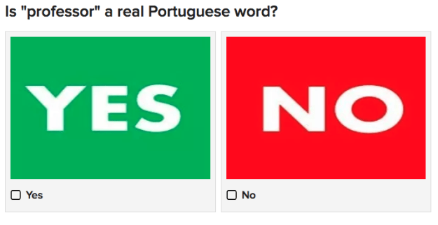 Test your Portuguese skills by guessing if these words are real or invented.