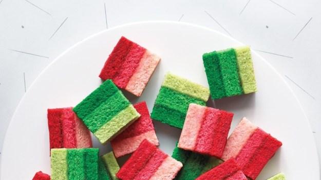 Ombré Rainbow Cookies