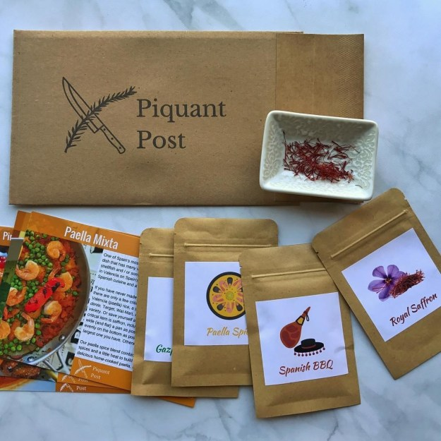 A spice packet subscription from Piquant Post someone must order for the boi who loves cooking (me) right now.