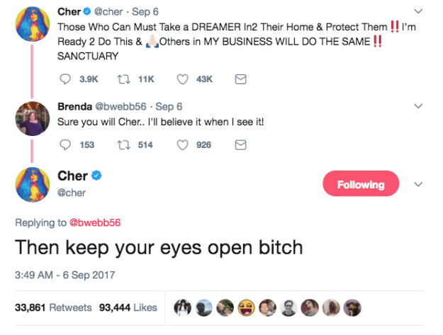 When Cher, in true Cher fashion, didn't hold back: