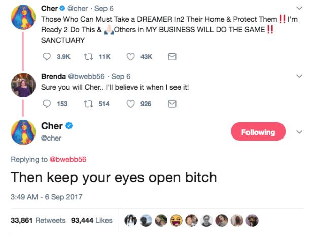 When Cher, in true Cher fashion, didn't hold back: