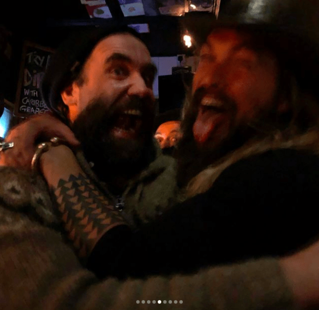 He also partied with the Hound, aka Rory McCann.