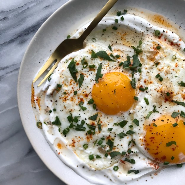 Olive Oil-Fried Eggs With Yogurt and Lemon