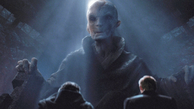 You may recall Supreme Leader Snoke's first appearance in The Force Awakens.