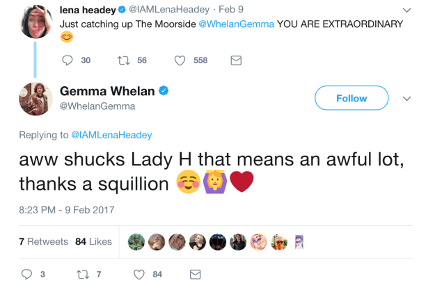And Lena was super supportive of Gemma.