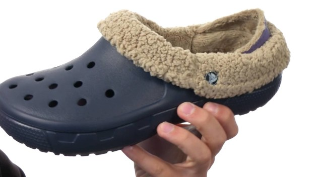 Let's never forget those cold weather Crocs.