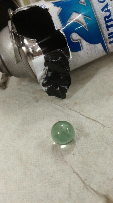 Ever wondered what that sound is when you shake a can of spray paint? It's just a marble they put inside the can.