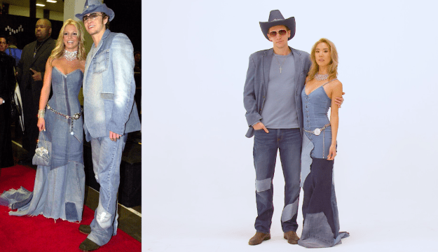 And get a load of YB and Herbert as Britney and Justin in their full-body denim wear, ya'll! Nailed it.