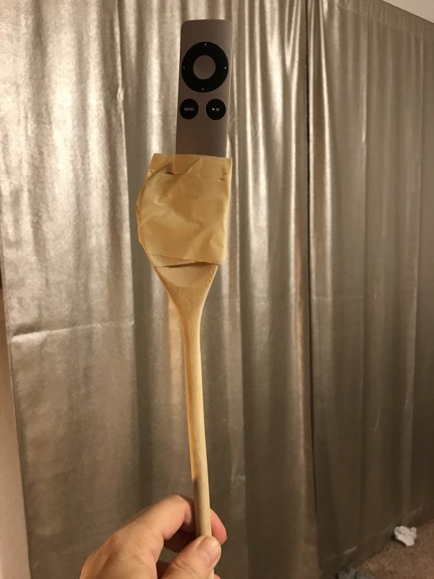 A wooden spoon: