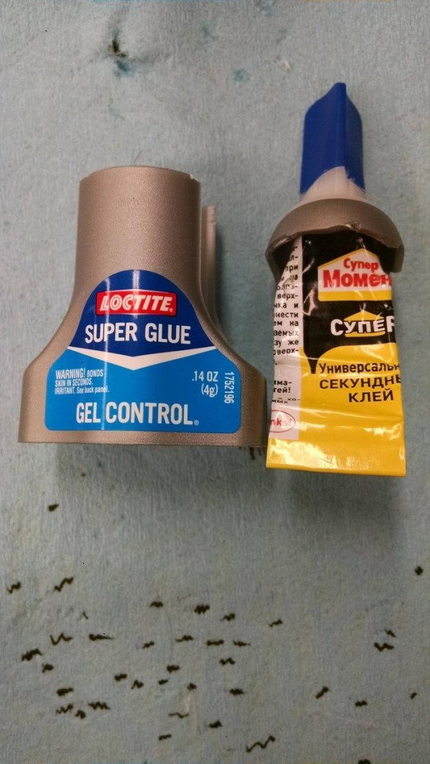 The person who purchased this glue claims they cracked open the casing to find an undercover Russian glue inside.