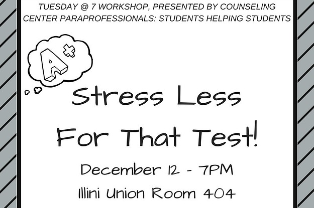 Stress Less For That Test