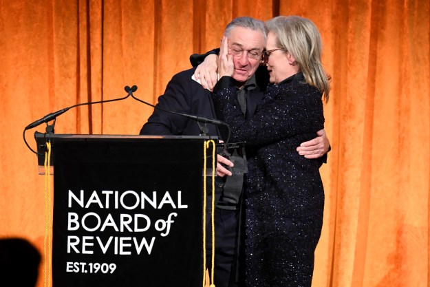 Robert De Niro attended the National Board of Review Awards in New York Tuesday night to present Meryl Streep with the Best Actress prize for The Post.