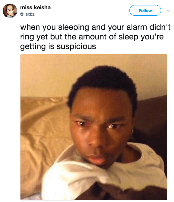 Got some verrrrry suspicious sleep: