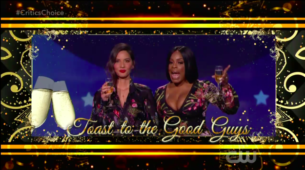 """Wow! See, that's what I'm talkin' about."" Niecy responded, before going IN about the Globes. ""I want to say this quickly. Thank you to all of the men for speaking up at the Golden Globes and joining our sisters—"""