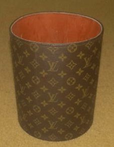 Kim presented her LV garbage cans without comment, so it's not clear where she got them or how much they cost. But for the record, I found a Louis Vuitton mini trash can on eBay for $4,000 — and it's used.