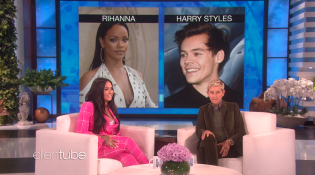 But then things got even easier when Rihanna made an appearance. Yep, Demi picked Rihanna over Harry.