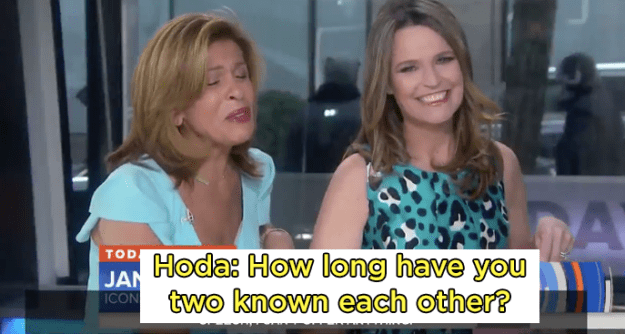 The interview between the two friends is amazingly shady and hilarious. First, Hoda asks them how long they've known each other...