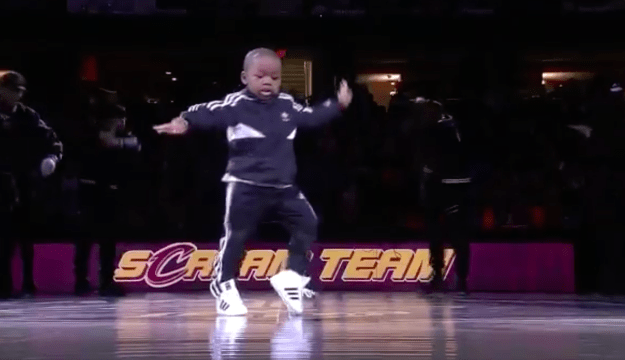 Little Tavaris Jones made his big debut on the national stage yesterday during the halftime show of the last regular season game between the Cleveland Cavaliers and the Golden State Warriors.