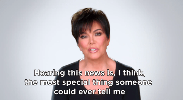"""During her testimonial, Kris said that she was """"ecstatic"""" at the news."""