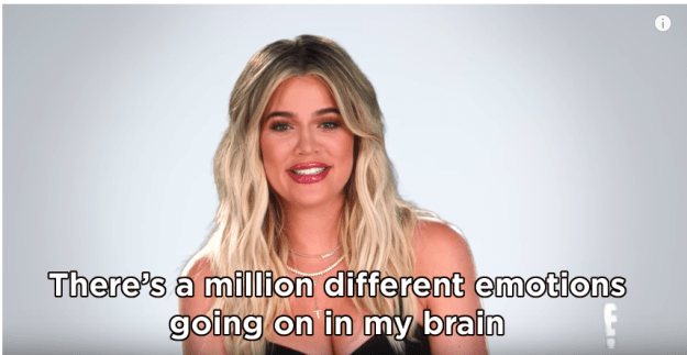 """Then, during her testimonial, Khloé revealed she was feeling """"a million different emotions."""""""