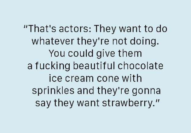 On ~actors~: