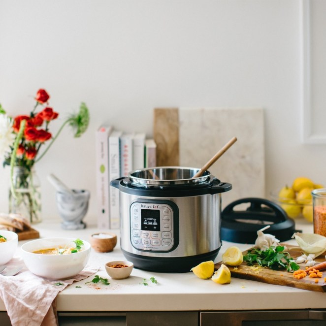 """It has seven functions: programmable pressure cooker, slow cooker, rice cooker, steamer, sauté, yogurt maker, and warmer.""""I've used it almost every single day since I've gotten it! It's my new favorite cooking device! It takes so little time to prepare just about anything!"""" —bayleaw2""""Being able to cook (almost) everything in one pot is nice, but more than that, the way it transforms cheap cuts of meat into buttery tender deliciousness is more than worth the cost."""" —Dora Breckinridge, FacebookGet it from Walmart for $99.95 (6 Qt)."""