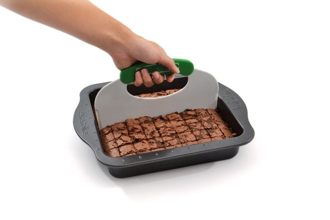 "This pan also comes with a cutting tool!""I bake every week for my office, and Perfect Slice bakeware makes it possible to get the right number of treats every time! This product has seriously made my life so much easier! At this point, I can't imagine baking with anything else!"" —viggypGet it from Walmart for $19.99+ (available in two colors)."