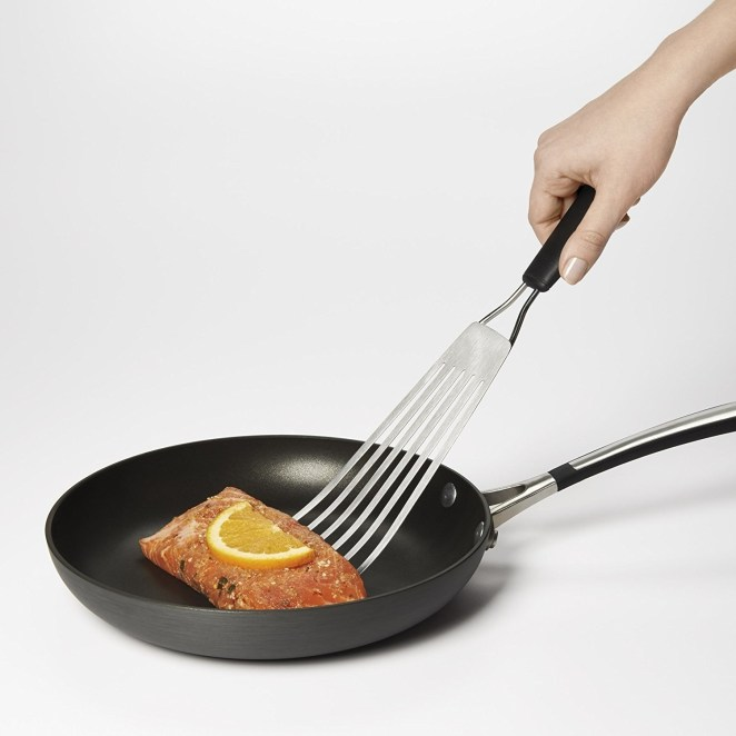 """A fish spatula. Gets under ANYTHING."" —Brian Kane, FacebookGet it from Jet for $12.99 or from Walmart for $15.26."