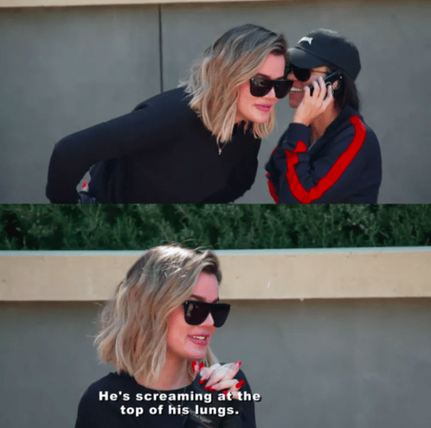In one scene, Kourtney was on the phone to Scott who was screaming at her for going on a date with another guy.