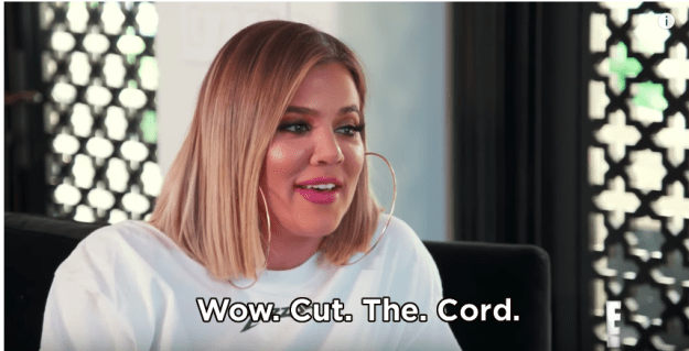 To which Khloé had this response.