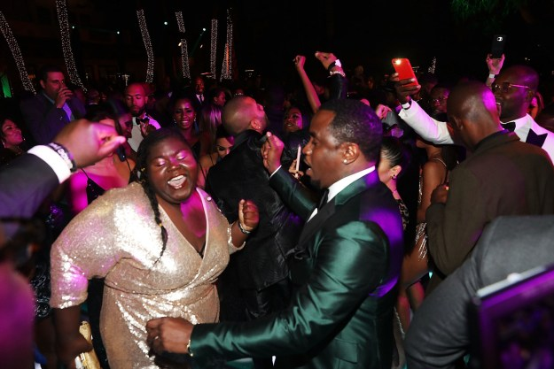 Gabourey Sidibe and Diddy cut a rug on New Year's Eve.