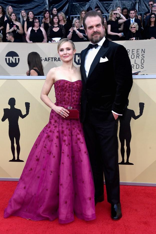 David Harbour (alongside host Kristen Bell)