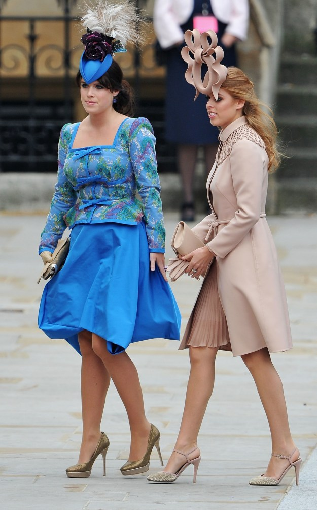 You might remember Princess Eugenie and her sister Princess Beatrice at Kate and William's wedding for these ~excellent~ fascinators.