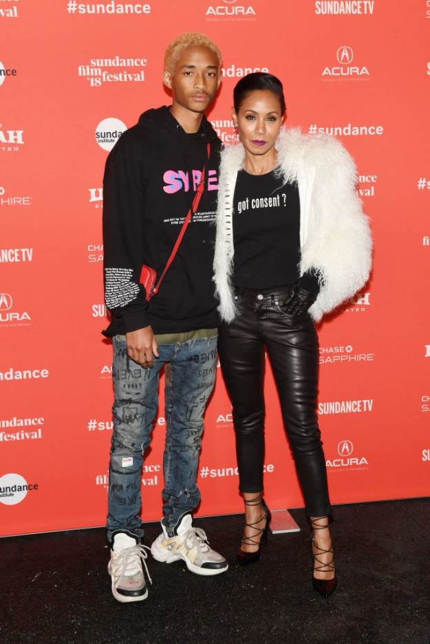 Support her son Jaden on the red carpet during his Skate Kitchen premiere.
