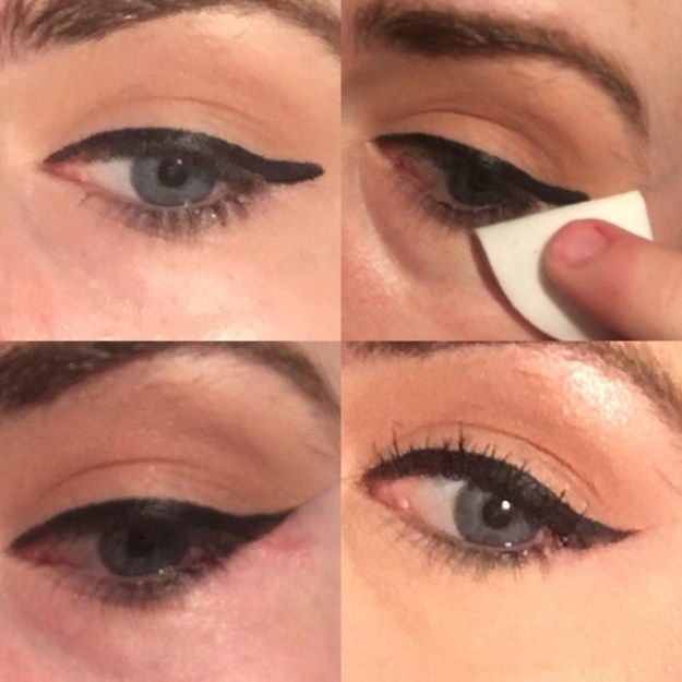 Or try doing a more linear wing, then swiping up with a makeup wipe to get the perfect swoosh.