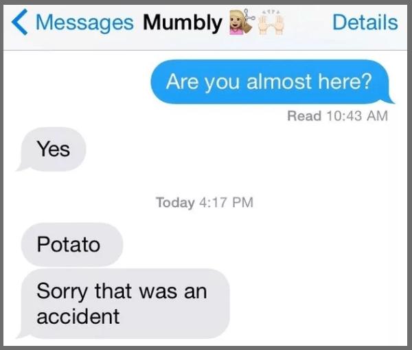 This random yet iconic accidental text: