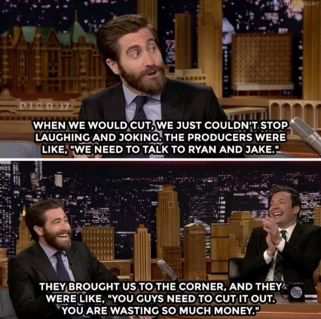 When he filmed a movie with Ryan Reynolds and actually got told off for goofing around so much.