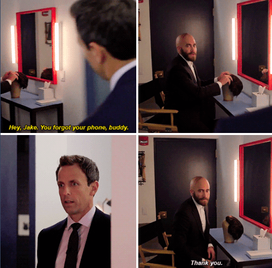 When Seth Meyers discovered Jake Gyllenhaal's secret ~truth~ so we could understand why Jake decided to grow a beard.