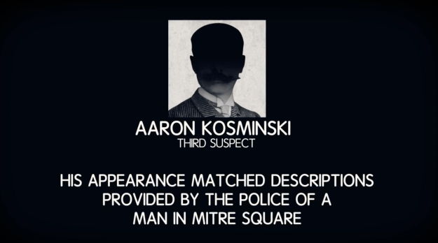 The third suspect was Aaron Kosminski, a resident of the area who spent some time in asylums after the murders.