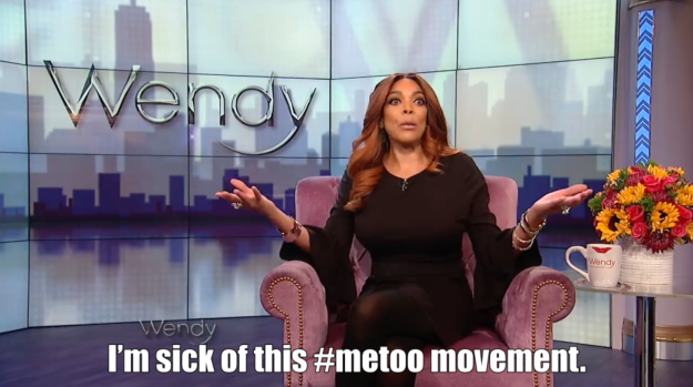"""But Wendy wasn't done. About eight minutes later she declared, """"I'm sick of this #metoo movement."""""""